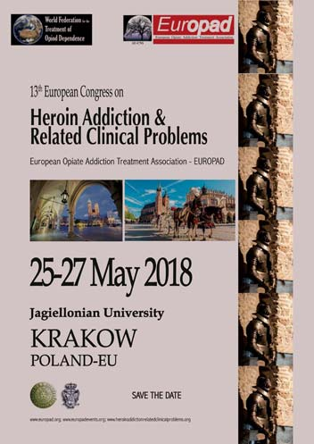 The 13th European Opiate Addiction Treatment Association (EUROPAD) conference will be held in Krakow, Poland on May 25-27, 2018.